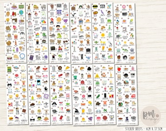 Wacky Holiday Sticker Sets - Planner Stickers - FS63-FS74
