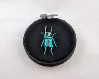 Hand Embroidered and Beaded Bug