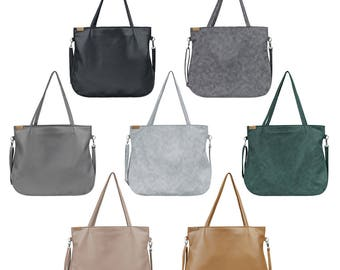 Shoulder bag & crossbody bag Vegan bag Tote bag with zipper Laptop bag women Vegan Gift for women Vegan leather bag Vegan purse Wholesale