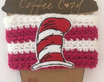 Cat In The Hat Coffee Cozie - Cat in The Hat Coffee Sleeve