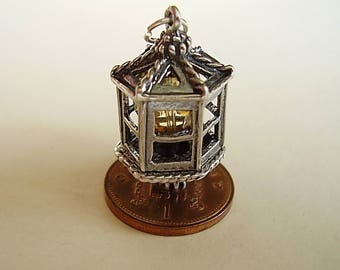 Lantern With Citrine Sterling Silver Charm