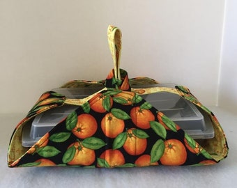 Thermal, Insulated, Casserole Carrier with Oranges