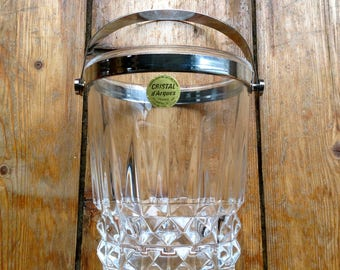Vintage French Crystal Ice Bucket