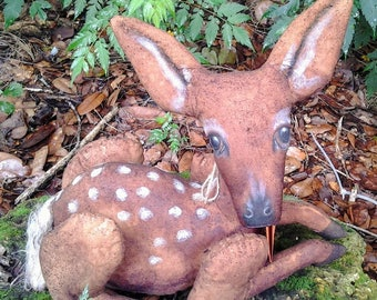 PATTERN Primitive Folk Art Fawn Baby Deer Pattern ~
