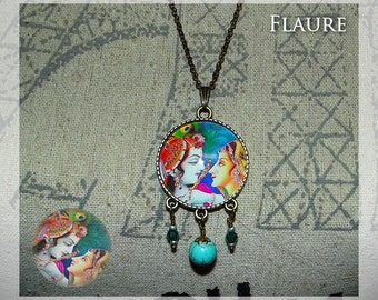"A pendant necklace ""love couple Hindu"""