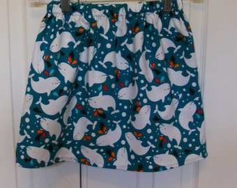 Friend fo the Sea Dolphin Skirt  (18 mos,  2T, 3T, 4T, 5, 6, 7, 8, 10)