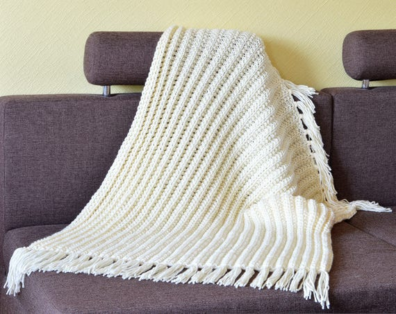 Knit Throw Blanket Pattern Pdf Winter Blanket Pattern