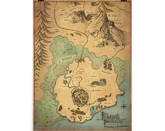 "PRINT) Pilgrim's Progress Map 1 ""The City of Destruction"""