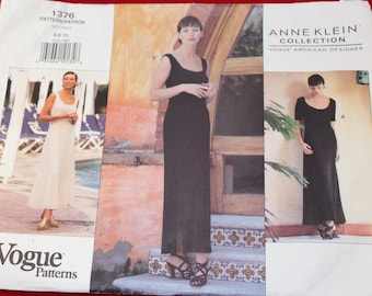 Vintage 1990's Vogue American Designer Sewing Pattern 1376 for a Woman's Dress Sizes 6-8-10