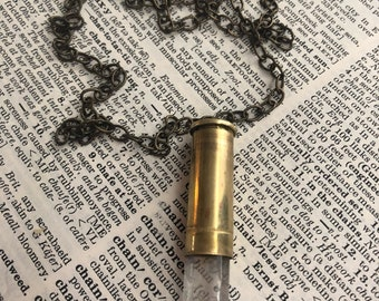 Bullet Crystal Necklace, 38 Special Shell, Bullet Necklace, women