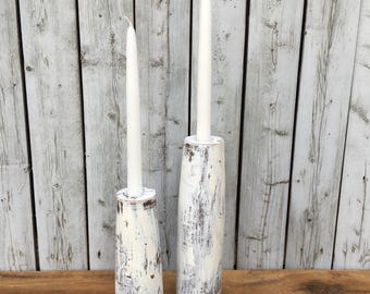 Painted Candlestick Holders