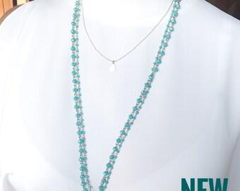Long necklace boho, Long necklace beaded, Boho Necklace, Gold boho Necklace,Boho Jewelry, bohemian necklace, Chunky beaded necklace, Momgift