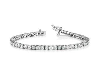 5 carat Forever One Moissanite Tennis Bracelet 14k White Gold, 18k or Platinum Forever One Moissanite Bracelets for Women, Black Friday 2016