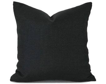 Black Outdoor Pillows ANY SIZE Outdoor Cushions Outdoor Pillow Covers Decorative Pillows Outdoor Cushion Covers Best Pillow Surf Black