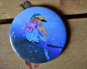 Colorful bird magnet / / animal / / magnet / / gift / / decor / / decoration / / painting / / design / / original / / roller / / colors