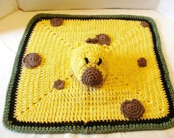 Organic Giraffe Lovie Blanket or Toy Crochet Pattern 435