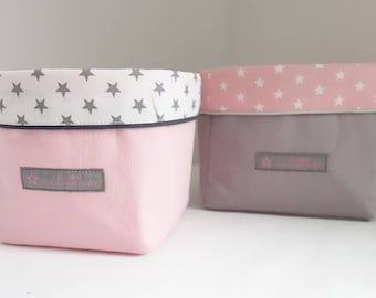 TO order set of 2 baskets graphic Collection pink