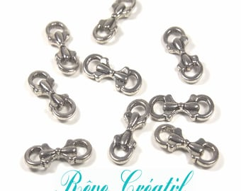 20pcs Tibetan Style Bowknot Links, Antique Silver, 16mm long, 6mm wide, 3.5mm thick hole: 2mm