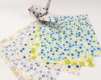 Origami Paper Sheets - Cobblestones Pattern - 100 Sheets