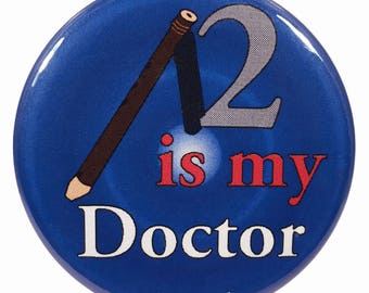 Who 2.25 Inch Second Doctor Button 2 Is My Doctor