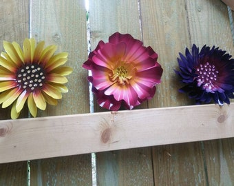 Metal Flowers,  Fence Flowers,  Fence Decoration,  Metal Flowers for Fence or Tree