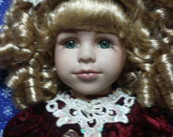 Winter Beauty porcelain doll Perfect Mothers day gift!!!!