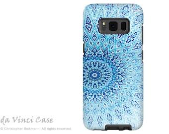 Case for Samsung Galaxy S8 PLUS - blue mandala Galaxy S 8 PLUS Case - Cloud Mandala -  Dual Layer Zen Tough Case by Da Vinci Case