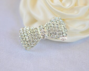 Rhinestone Flatback Crystal Bow Embellishment Flatback Button DIY Jewelry Hair Bridal Wedding Gift Craft Supplies