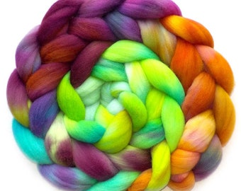Falkland Roving Handdyed Combed Top - Enjoy the Journey 6.2 oz.