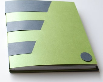Gray and Green Cross Structure Book, Notebook