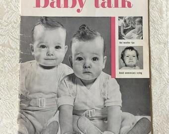 Vintage Baby Talk Magazine July 1953 Infant Care New Mother Fashions Layette Advertising Art Ephemera New Mother Advice Vintage Paper