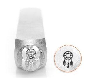 ImpressArt DREAMCATCHER Metal Stamp, Design Stamp, 6mm, Native American Indian Southwest Design, Dream Catcher, Stamping Tool Metal Jewelry