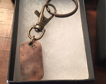 Child drawing keychain in Copper