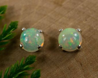 Opal Earrings in Gold or Sterling Silver