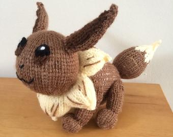 Eevee pokemon knitting pattern plushie pattern toy pokemon stuffed toy gift amigurumi