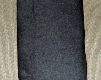 STRETCH DENIM Textile / Fabric 3 n 1 Third Yds Stretch Black Denim/Made in USA/Cotton/Polyester/Spandex Mix/56 Inches Wide/Washable Fabric