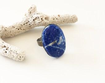 """jimmy"" lapis lazuli ring"