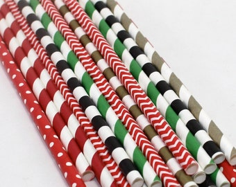 24 Pirate Peter Pan The Lost Boys party Decorations paper straw first birthday party  baby boy shower captain hook black red gold green