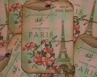 Paris Bonjour Guide Tour Gift Tags