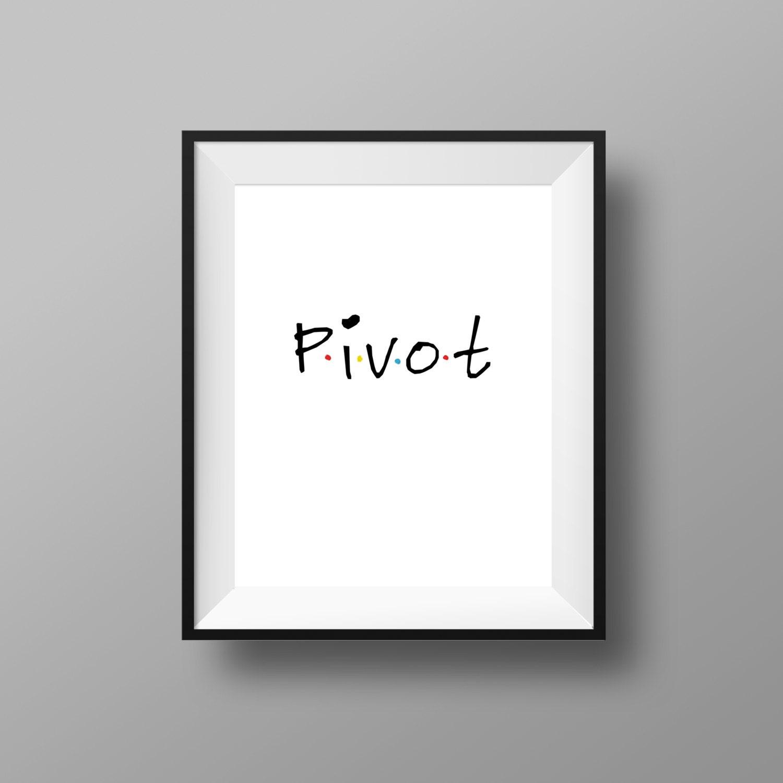 Freunde-TV-Show Print Pivot-Print Freunde TV-Serie
