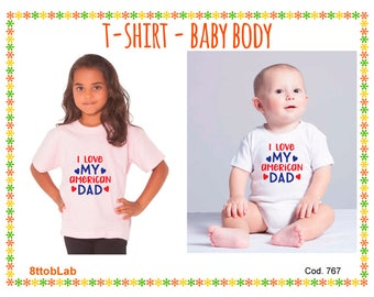 Baby body baby t-shirt Baby body and t-shirt I love my american dad