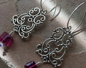 Sterling silver dangle and drop esrring