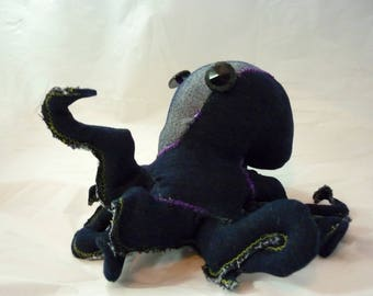 Choolie, stuffed octopus, handmade upcycled stuffed animal ooak
