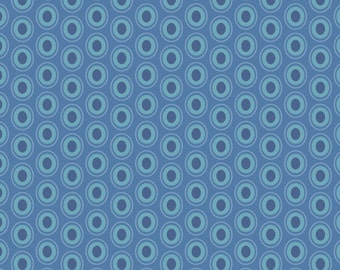 Oval Elements in Sapphire - 1/2 Yard - Art Gallery Fabric