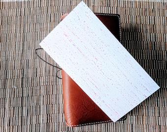 Pastel Watercolor Droplets Traveler's Notebook Insert | Midori Insert | TN Insert | Fauxdori | Tomoe River | A5 B6 Passport Standard Pocket