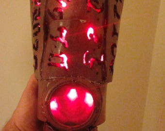 Cosplay, demonic gloves, anime gloves, lighted arm prop, costume armor, spiked arm, Halloween