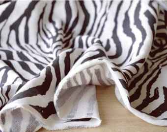"""Zebra French Terry Knit - 62"""" Wide - By the Yard 0J310 - KG"""