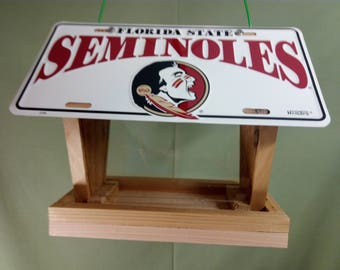 Florida State University Seminoles license plate bird feeder (2)