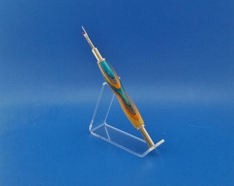 Handcrafted, Double-ended Seam Ripper/ Stiletto, Gold