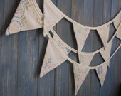 Small Vintage Tablecloth Bunting